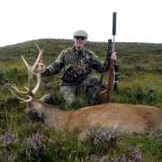 red stag stalking highlands