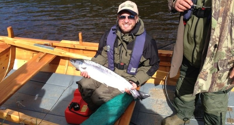 salmon on the river tay