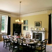 deer stalking lodge dining room