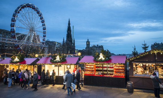 chritsmas in Edinburgh