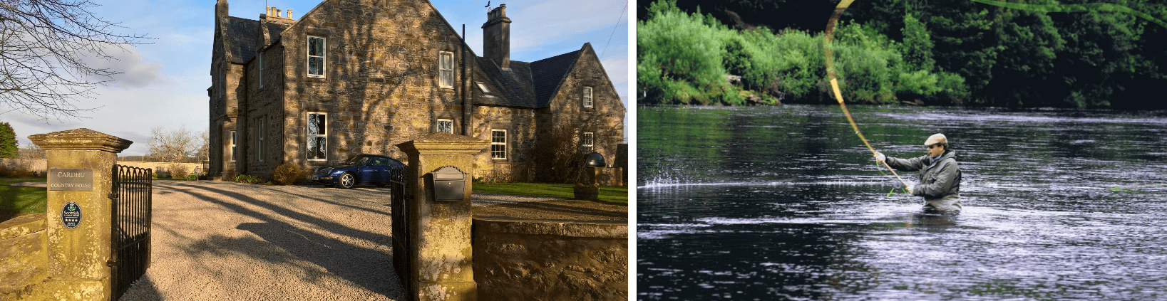 luxury fishing package in scotland