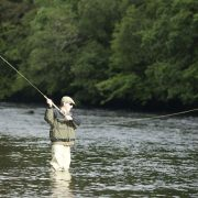 fly fishing salmon