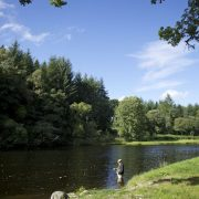 summer river fishing in Scotland