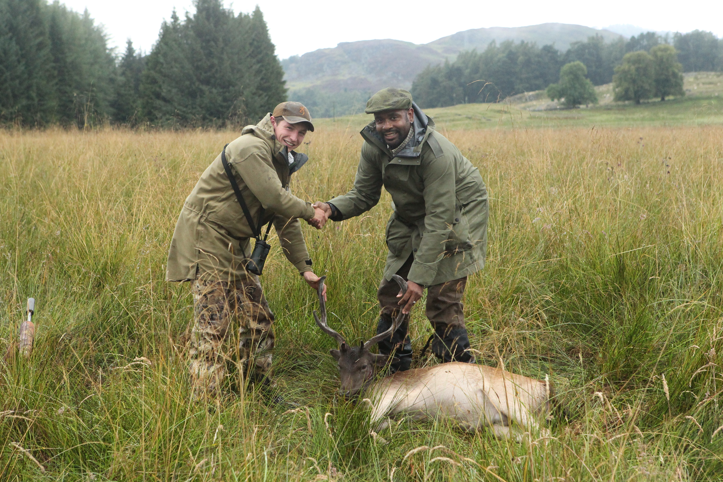 hunting scottish highlands