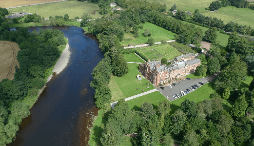 best riverside hotels in Scotland dryburgh abbey