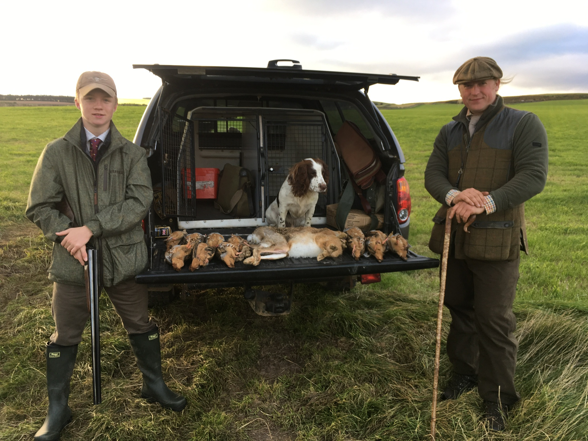 wing shooting in Scotland walked partridge