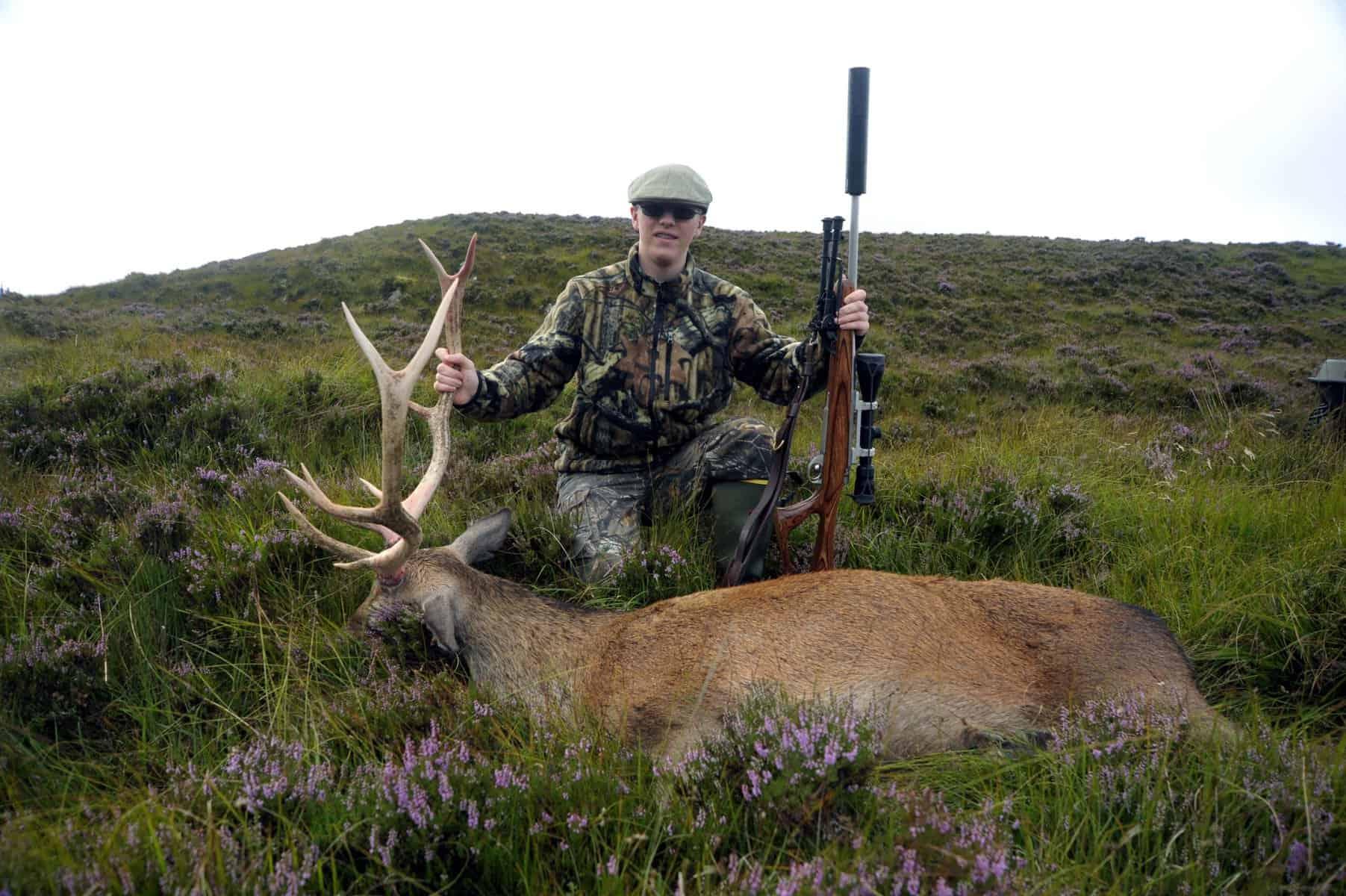big game hunting in Scotland red deer