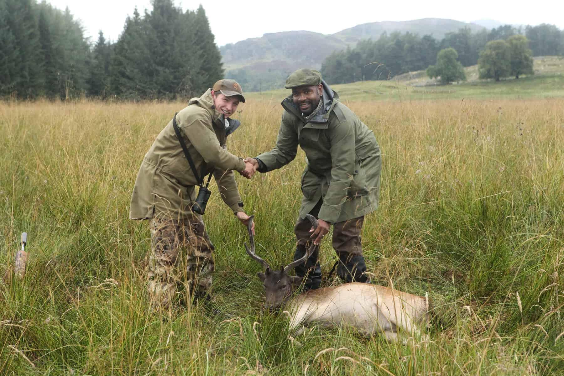 hunting scottish highlands