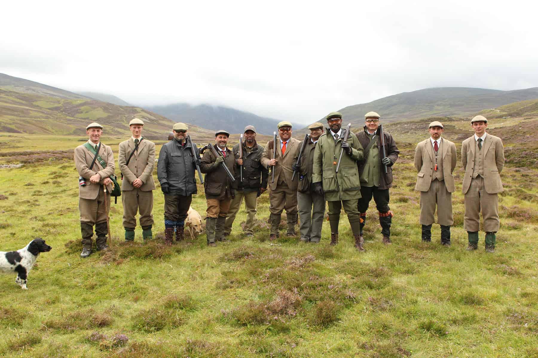 Scottish wing shooting grouse