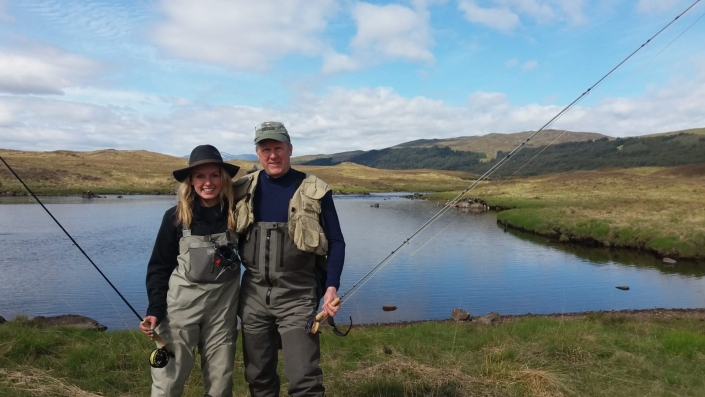 a succesful day's Scottish salmon fishing