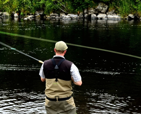 Scottish highland holiday salmon fishing