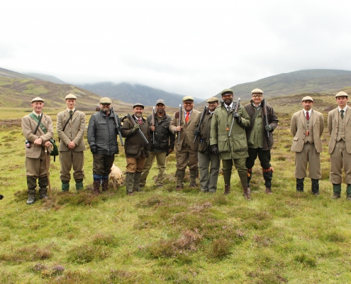 deer and wingbird hunting tour of Scotland